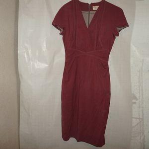 MM Lafleur wool dress bright Red